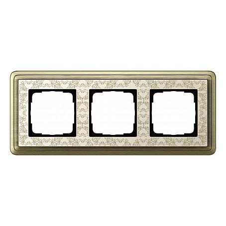 Gira ClassiX Art Бронза/Кремовый Рамка 3-ая