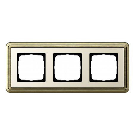 Gira ClassiX Бронза/Кремовый Рамка 3-ая