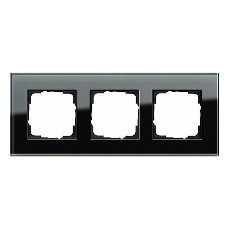 Gira ESP Черное стекло Рамка 3-ая