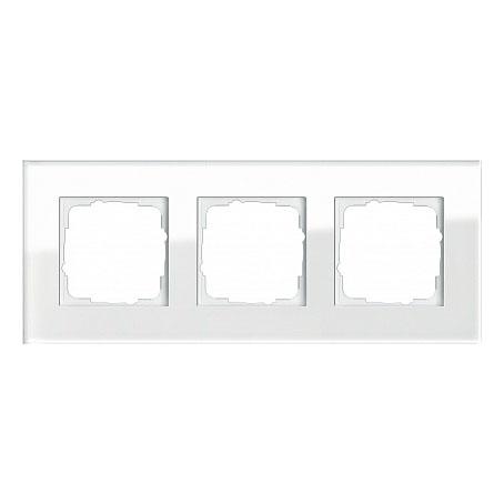 Gira ESP Белое стекло Рамка 3-ая