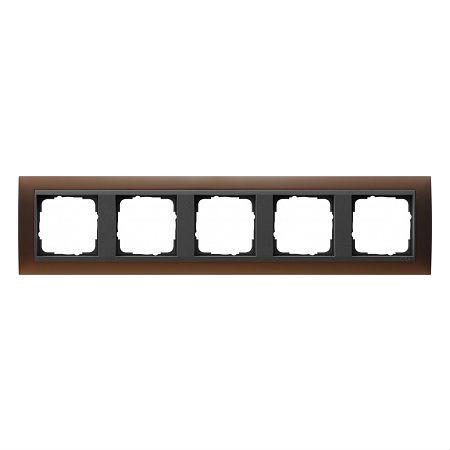 Gira EV Матово-коричневый/антрацит Рамка 5-ая