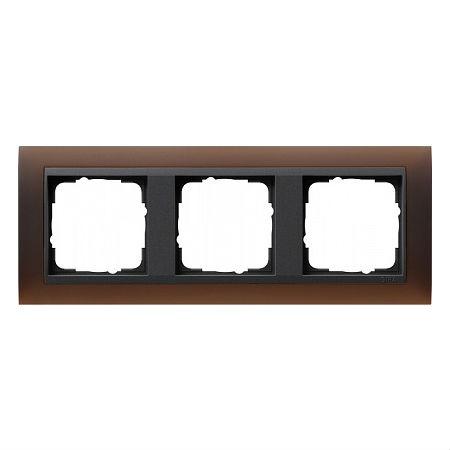 Gira EV Матово-коричневый/антрацит Рамка 3-ая