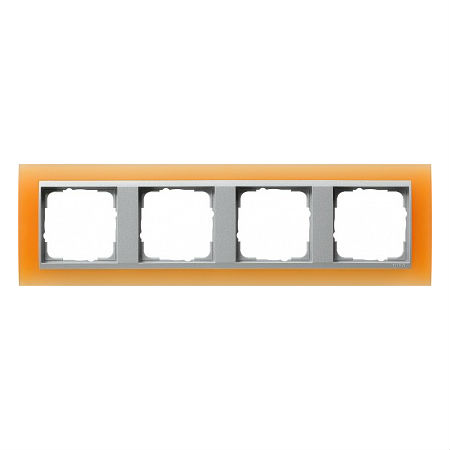 Gira EV Матово-оранжевый/алюминий Рамка 4-ая