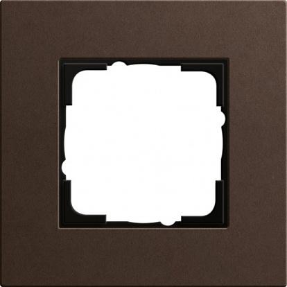 Gira ESP Lenoleum-Multiplex коричневый Рамка 1-ая