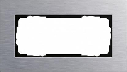 Gira ESP Алюминий Рамка 2-ая без перегородки