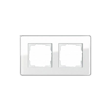 Gira ESP Glass C Белое стекло Рамка 2-ая