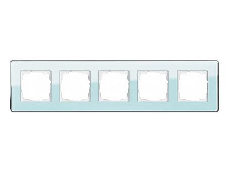 Gira ESP Glass C Салатовое стекло Рамка 5-ая