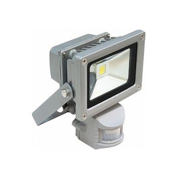 Прожектор светодиодный с датчиком движения СДО01-20Д (детектор) серый IP44 ИЭК