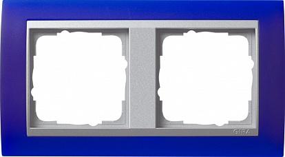 Gira EV Матово-синий/алюминий Рамка 2-ая