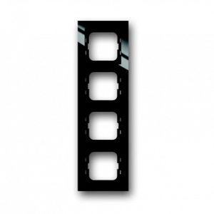 ABB Axcent Рамка 4-постовая, для монтажа заподлицо, axcent, черный