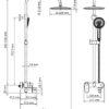 Душевой комплект со смесителем для душа WasserKRAFT A17401 17079