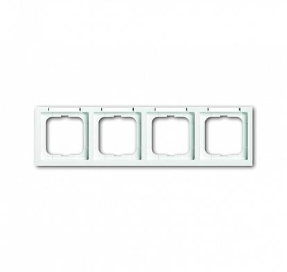 ABB Solo/future Рамка 4-постовая, с полем для надписи и шильдиком, горизонтальная, future linear, davos/альпийский белый