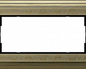 Gira ClassiX Art Бронза/Бронза Рамка 2-ая без перегородки