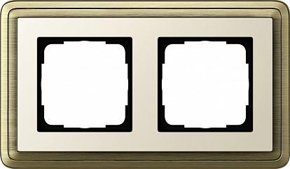 Gira ClassiX Бронза/Кремовый Рамка 2-ая