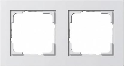 Gira E2 Бел глянц Рамка 2-ая
