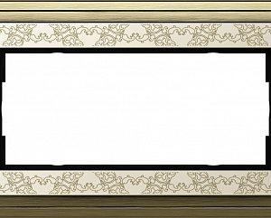 Gira ClassiX Art Бронза/Кремовый Рамка 2-ая без перегородки