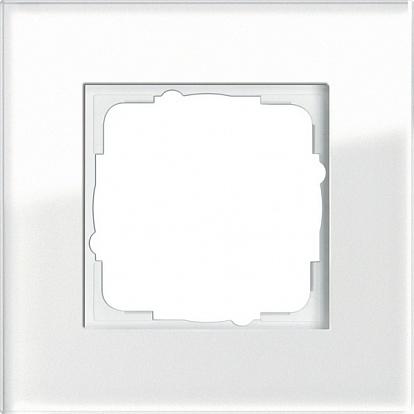 Gira ESP Белое стекло Рамка 1-ая
