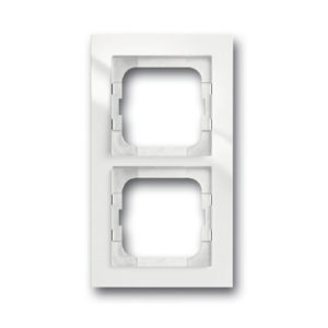 ABB Axcent Рамка 2-постовая, для монтажа заподлицо, axcent, белый