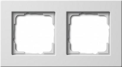 Gira E22 Бел Рамка 2-ая для установки заподлицо