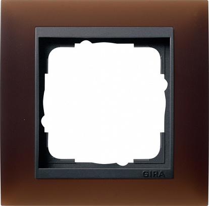 Gira EV Матово-коричневый/антрацит Рамка 1-ая