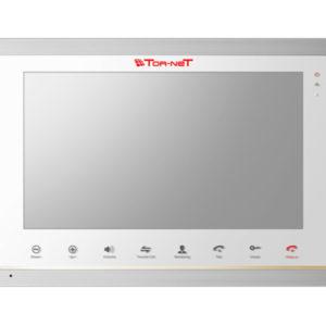"""IP видеодомофон Tor-neT 10.1"""" TFT белый-серебро"""