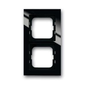 ABB Axcent Рамка 2-постовая, для монтажа заподлицо, axcent, черный