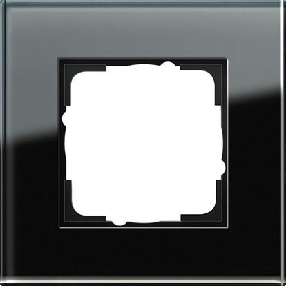 Gira ESP Черное стекло Рамка 1-ая