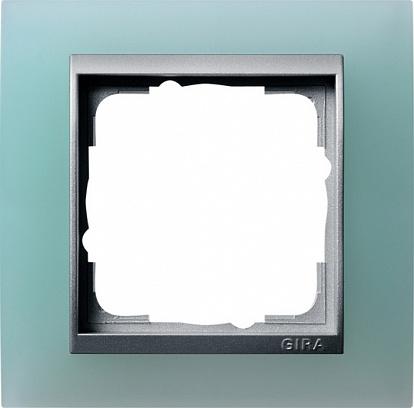 Gira EV Матово-зелёный/алюминий Рамка 1-ая