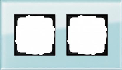 Gira ESP Салатовое Стекло Рамка 2-ая