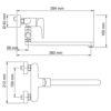 Смеситель для ванны с длинным поворотным изливом WasserKRAFT Vils 5602L 17374