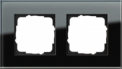 Gira ESP Черное стекло Рамка 2-ая