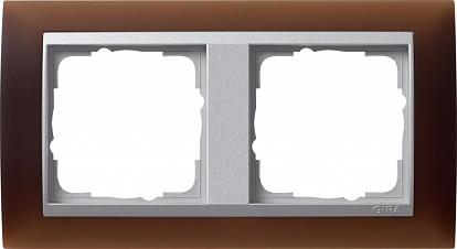 Gira EV Матово-коричневый/алюминий Рамка 2-ая