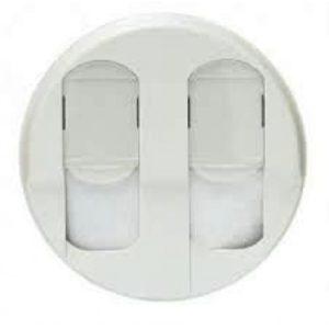 Legrand Лицевая панель двойной RJ45 розетки белый