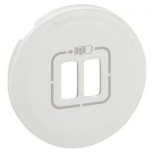 Legrand Лицевая панель USB розетки белый