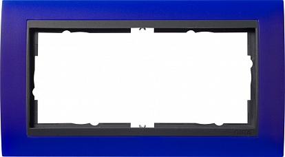 Gira EV Матово-синий/антрацит Рамка 2-ая без перегородки