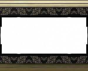 Gira ClassiX Art Бронза/Черный Рамка 2-ая без перегородки
