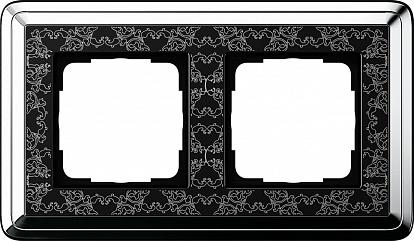 Gira ClassiX Art Хром/Черный Рамка 2-ая