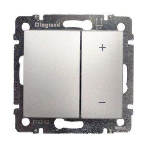 Legrand  Кнопочный светорегулятор Valena 40-400 Вт/40-400 ВА алюминий