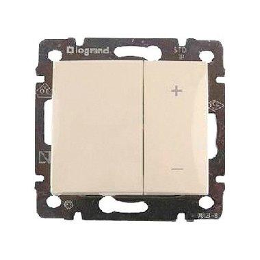 Legrand  Кнопочный светорегулятор Valena 40-600 Вт/40-600 ВА слоновая кость