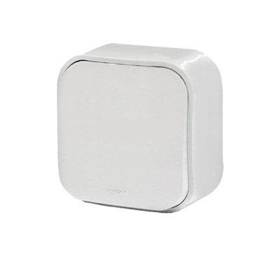 Legrand Quteo Выключатель одноклавишный проходной белый