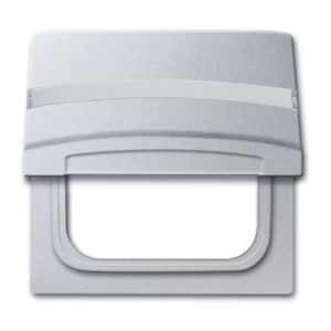 ABB Allwetter 44 Плата центральная для серий и Reflex SI, с полем для надписи, IP44, серебристый алюминий