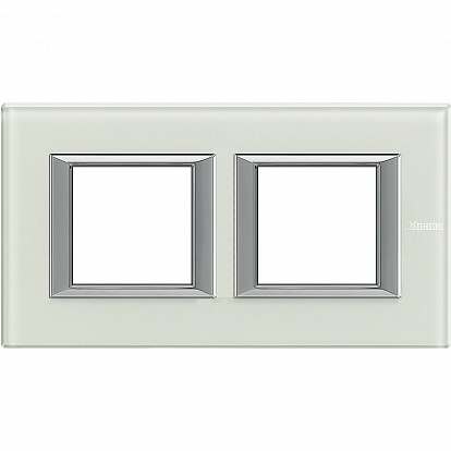 BT Axolute Whice Рамка 2+2 мод прямоугольная (надпись горизонтально)