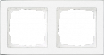 Gira E2 Бел Рамка 2-ая, с полем для надписи