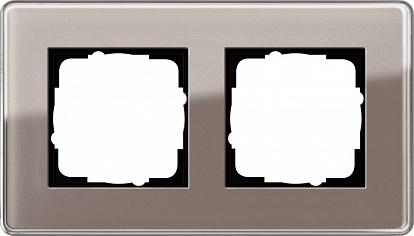 Gira ESP Glass C Дымчатое стекло Рамка 2-ая