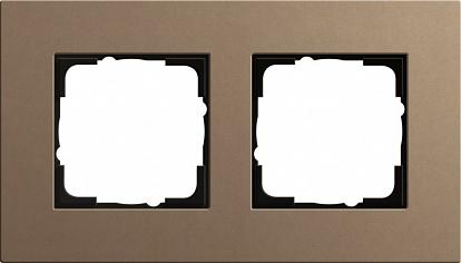 Gira ESP Lenoleum-Multiplex светло-коричневый Рамка 2-ая