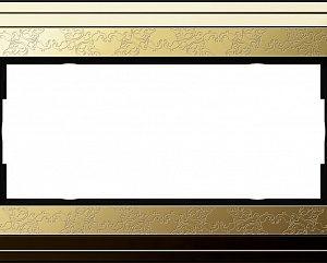 Gira ClassiX Art Латунь/Латунь Рамка 2-ая без перегородки