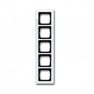 ABB Axcent Рамка 5-постовая, для монтажа заподлицо, axcent, белый