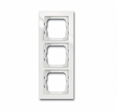 ABB Axcent Рамка 3-постовая, для монтажа заподлицо, axcent, белый