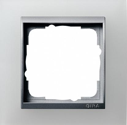 Gira EV Матово-Бел/алюминий Рамка 1-ая