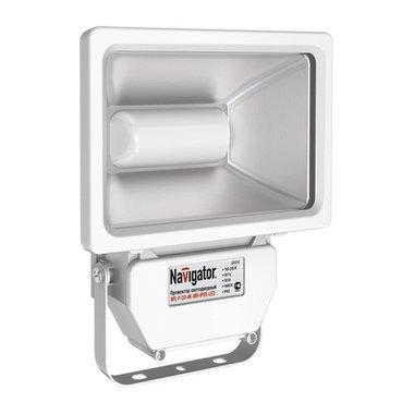 Прожектор светодиодный уличный 10 Вт IP65 Navigator NFL-P-10-4K-WH-IP65 LED (аналог ИО100Вт)